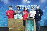 В Волгоградской области Сбербанк передал 10 тысяч защитных медицинских масок для волонтерского штаба акции #МыВместе